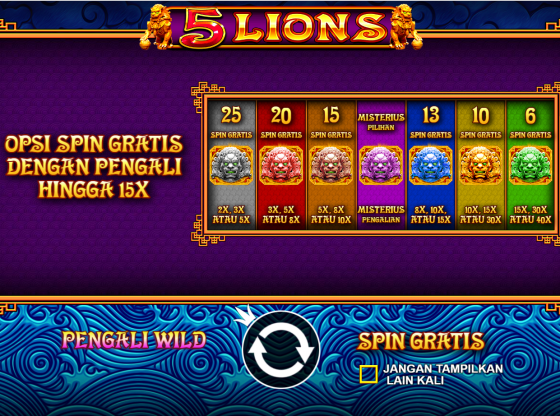 Tips Main Slot 5 Lions